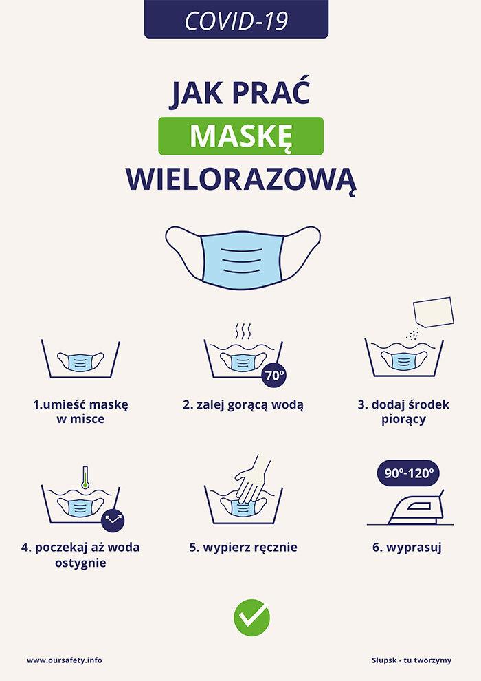jak prać maskę wielorazową