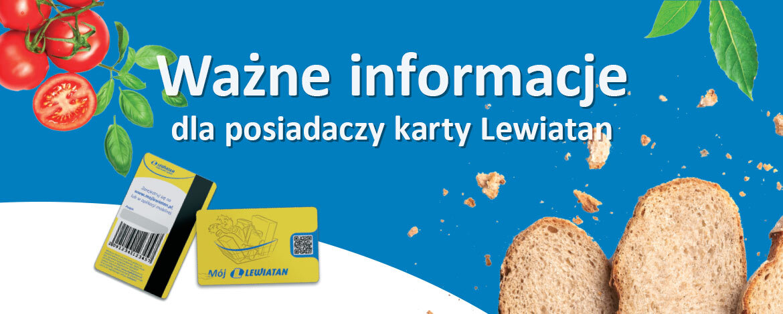 Grafika - Ważne informacje dla posiadaczy karty Lewiatan